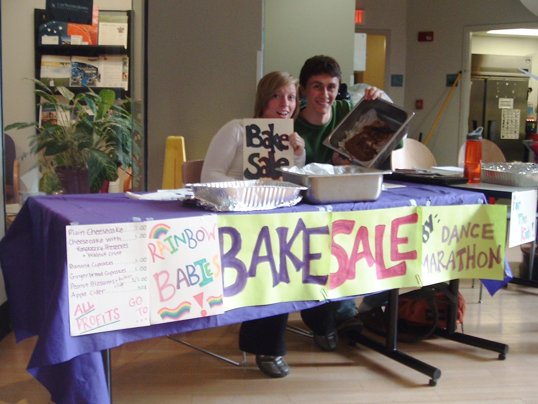 dance marathon bake sale