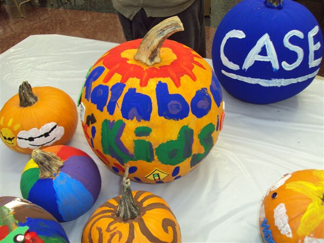 dance marathon UH pumpkin painting