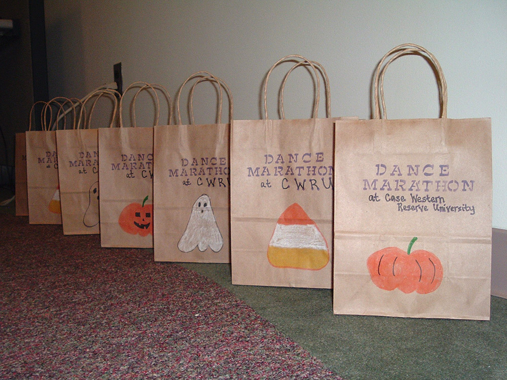 dance marathon trick or treat bags