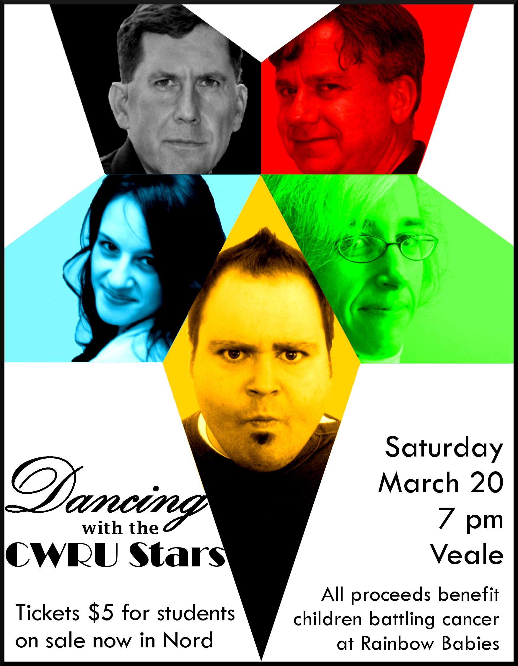 dance marathon at case western reserve university dancing with the CWRU stars trek poster