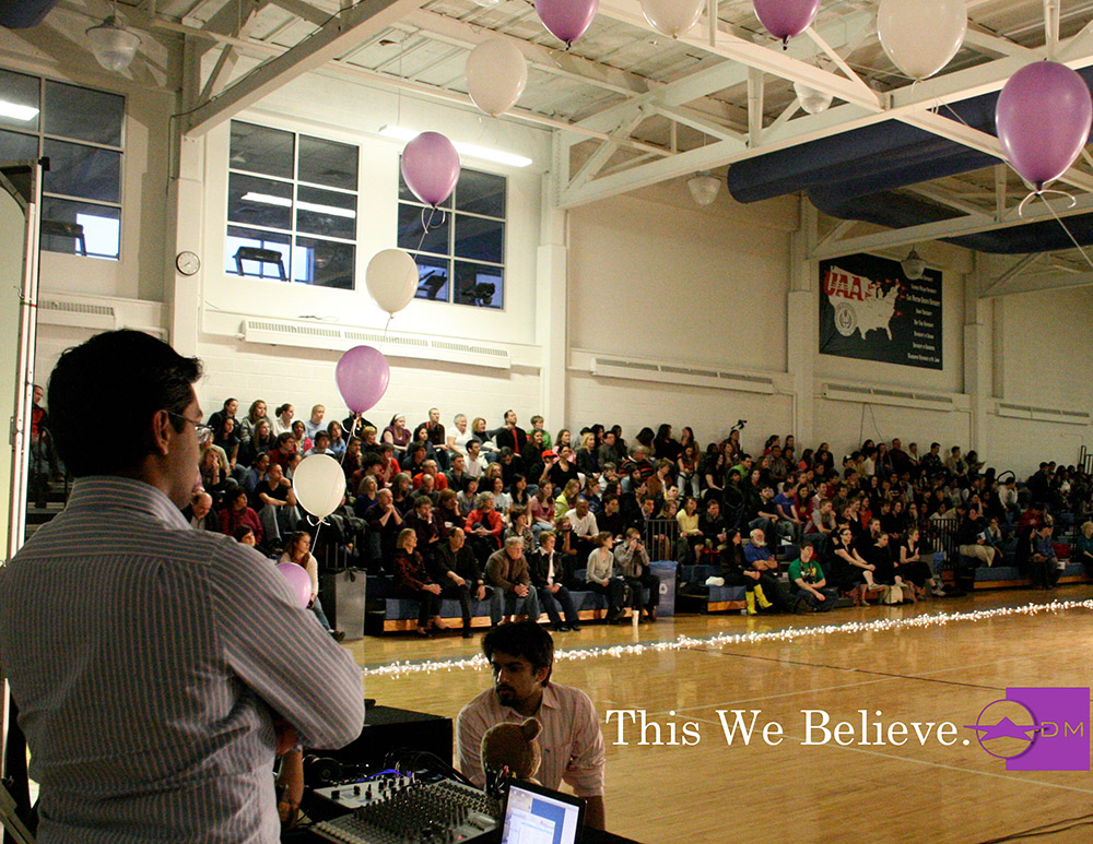 dance marathon at case western reserve university dancing with the CWRU stars full house crowd