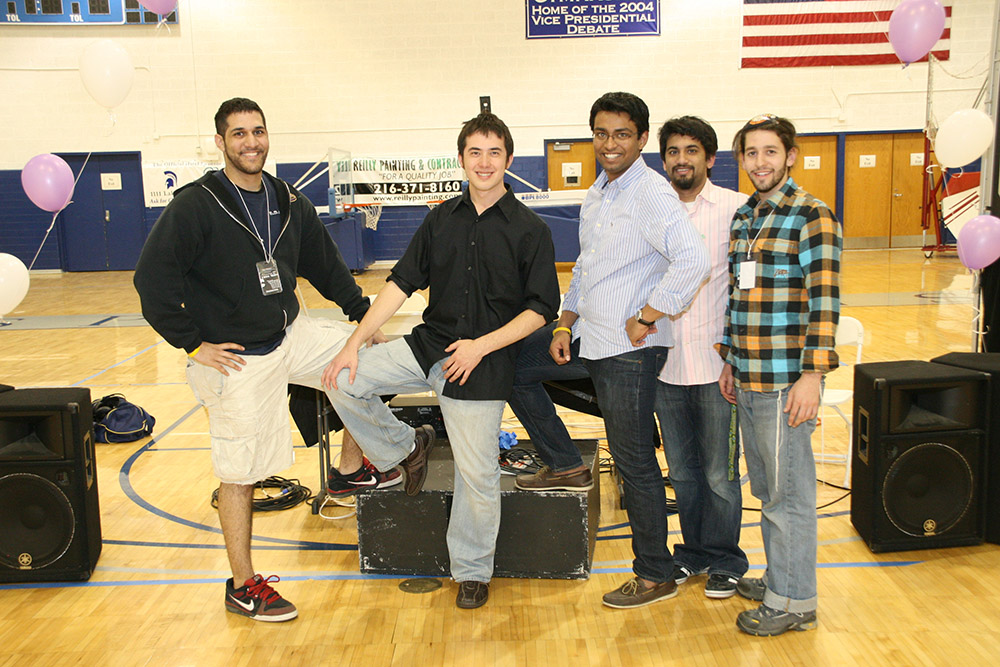 dance marathon at case western reserve university dancing with the CWRU stars delta tau delta sound crew